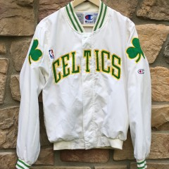 vintage 90's Boston Celtics Authentic Champion on court warm up NBA jacket size small white