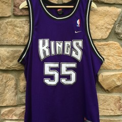 2000 Jason white chocolate Williams Sacramento Kings Nike Swingman NBA jersey size XL Purple alternate