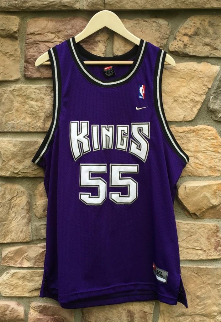44dc755f8 2000 Jason white chocolate Williams Sacramento Kings Nike Swingman NBA  jersey size XL Purple alternate
