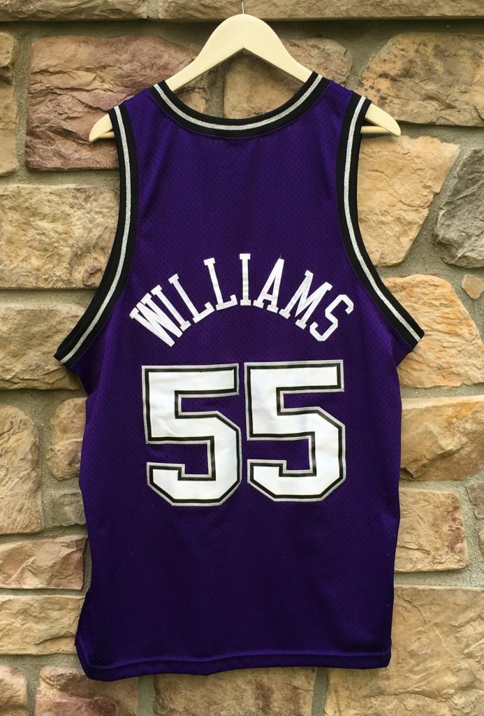 cbcdf4114951 2000 Jason white chocolate Williams Sacramento Kings Nike Swingman NBA  jersey size XL Purple alternate