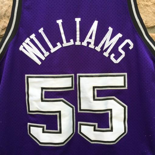 2000 Jason white chocolate Williams Sacramento Kings Nike Swingman NBA jersey size XL Purple alternate