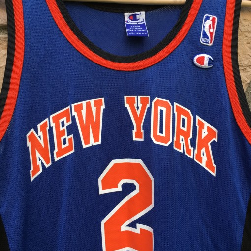 90's Larry Johnson New York Knicks Champion NBA jersey size 44 large