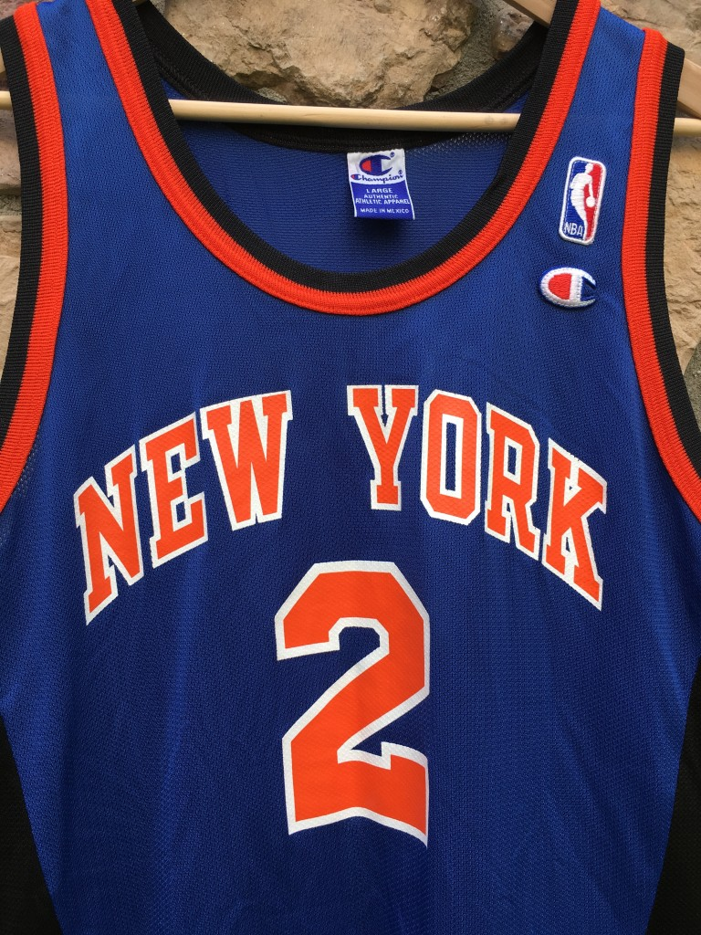 online store 9de82 858cd 1996 Larry Johnson New York Knicks Champion NBA Jersey Size 44