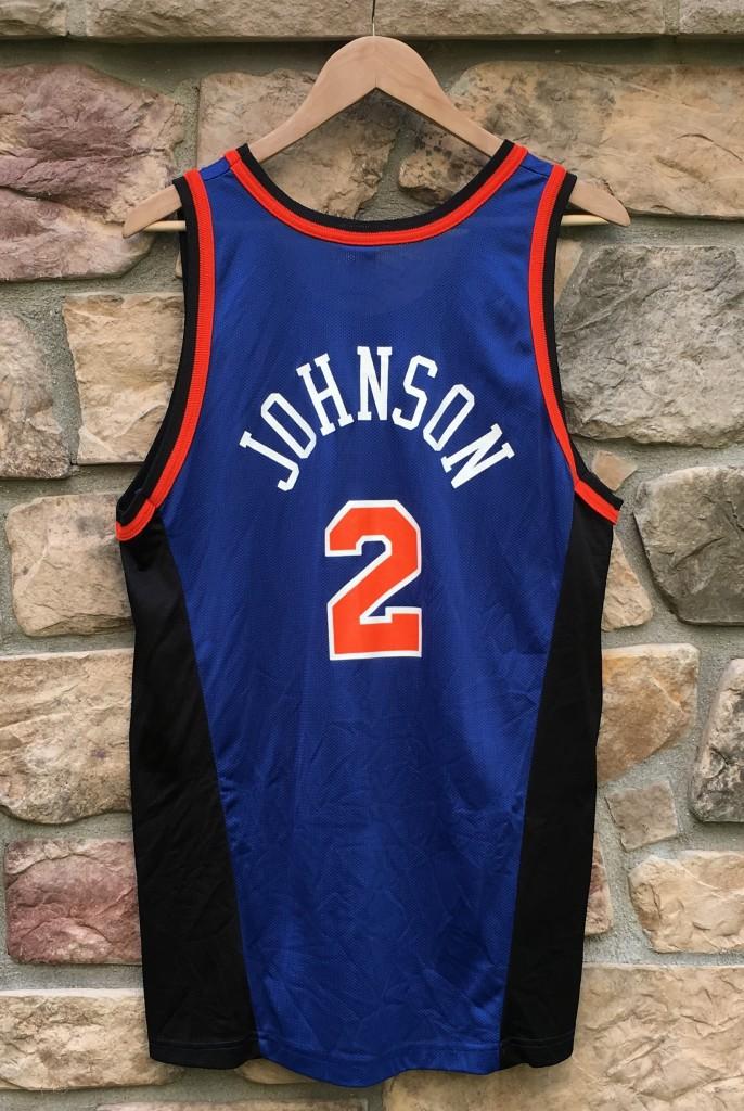 online store d94f5 b7069 1996 Larry Johnson New York Knicks Champion NBA Jersey Size 44