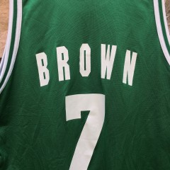 1996 Dee Brown Boston Celtics Champion NBA jersey size 48 XL