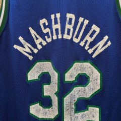 1994 Jamal Mashburn Dallas Mavericks Champion NBA jersey size 48