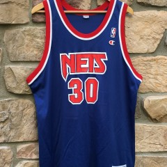 90 s Kerry Kittles New Jersey Nets Champion NBA jersey size 48 25adb7ee1