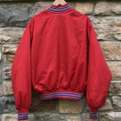 80's New York Giants Red Satin NFL Jacket size XL