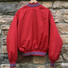 80's New York Giants Red Satin NFL Jacket size XL