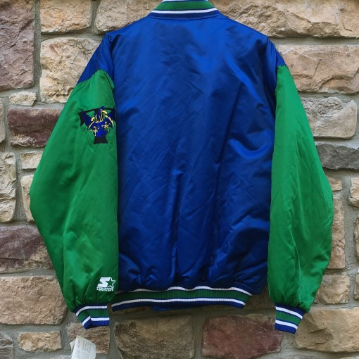 deadstock brand new 90's Trenton Thunder Starter Minor League Baseball Satin dugout authentic jacket size XL