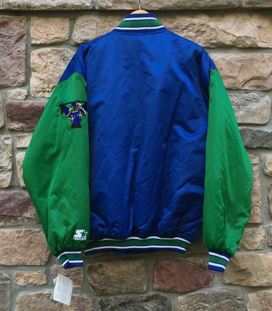 dea7cfcc 90's Trenton Thunder Starter Satin Minor League Baseball Jacket Size XL