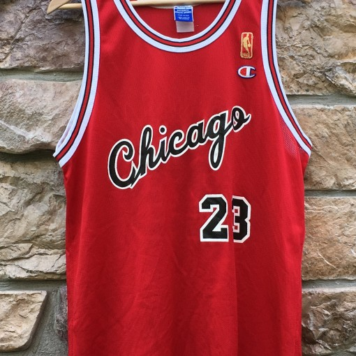 1997 Michael Jordan Chicago Bulls Champion NBA Jersey size 44 large 50th anniversary gold logo rookie