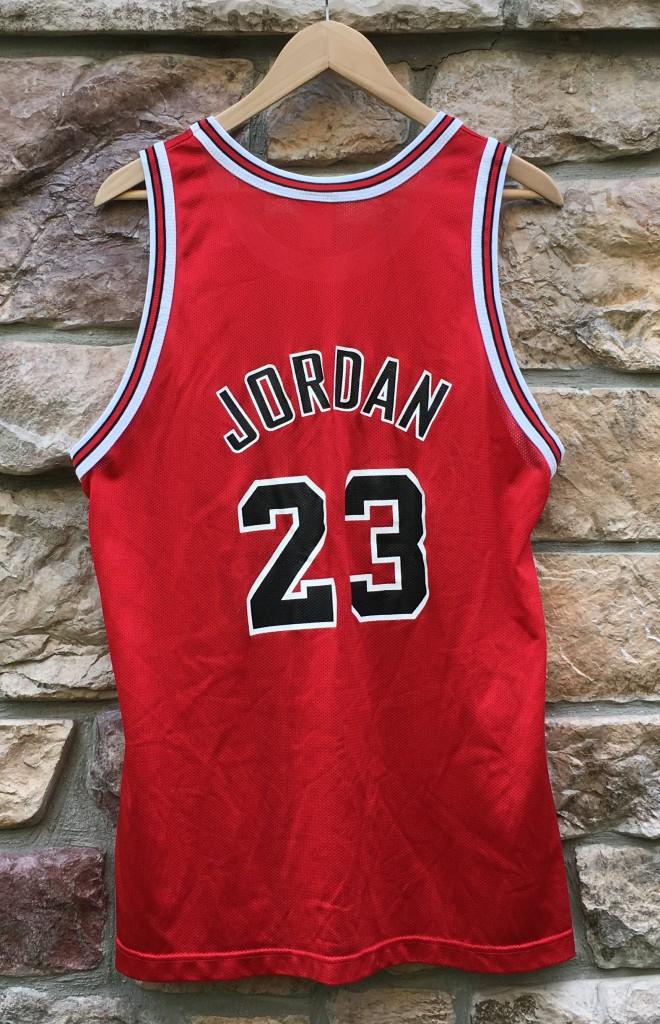 e958966e939 ... germany 1997 michael jordan chicago bulls champion nba jersey size 44  large 50th anniversary gold logo