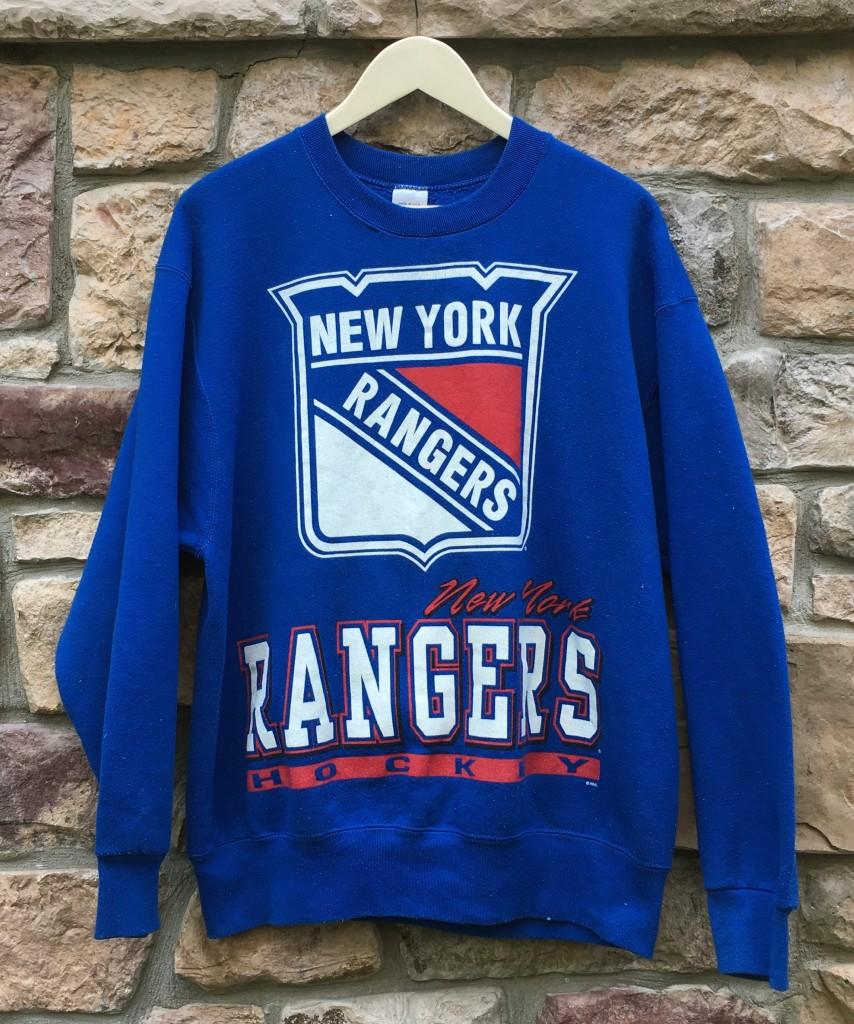 vintage 90 s New York Rangers Salem NHL Crewneck sweatshirt size large 7ffe0080f