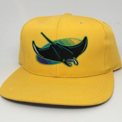 90's Tampa Bay Devil Rays Yellow MLB Snapback hat cap