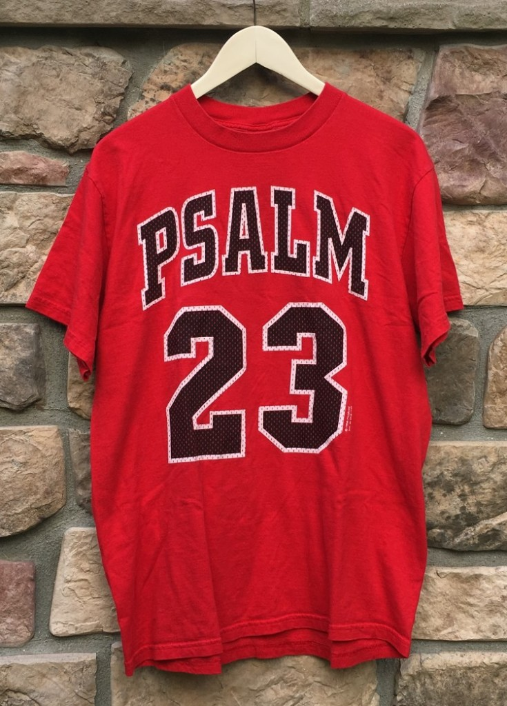 82126c28a14 1998 Michael Jordan Chicago Bulls Psalm 23 no bull the lord is my shepherd t  shirt