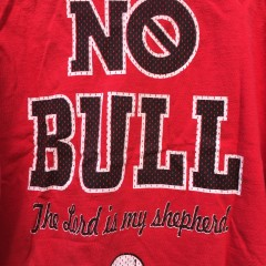 1998 Michael Jordan Chicago Bulls Psalm 23 no bull the lord is my shepherd t shirt size large