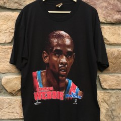 1994 Chris Webber Washington Bullest nutmeg nba t shirt size XL