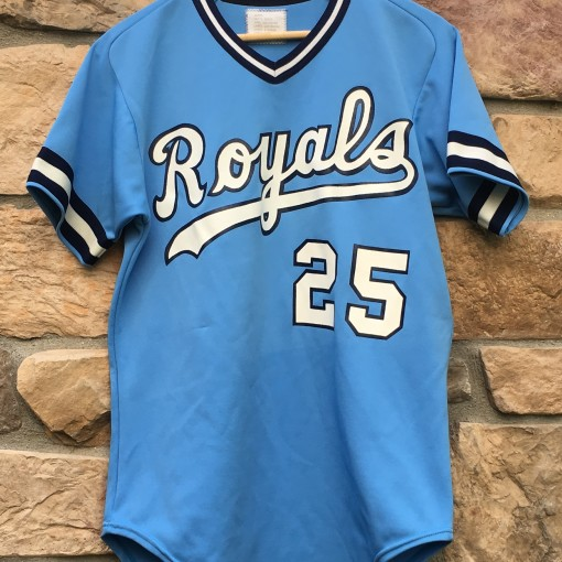 80's Kansas city royals wilson MLB baseball jersey size medium sample rare