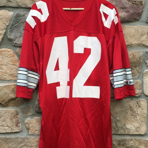 80's Vince Workman Ohio State Buckeyes Champion NCAA football jersey size XL