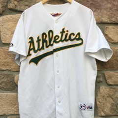 2001 Oakland Athletics A's Barry ZIto Majestic MLB jersey size large