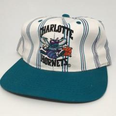 vintage 90's Charlotte Hornets Starter pinstripe NBA snapback hat deadstock