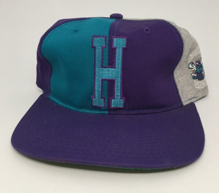aacc1436e2e74 90 s Charlotte Hornets Starter pinwheel NBA snapback hat deadstock