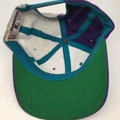90's Charlotte Hornets Starter pinwheel NBA snapback hat deadstock