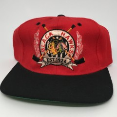 90's Chicago Blackhawks Starter nhl snapback hat deadstock