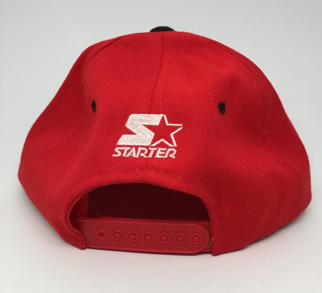 82640022b 90 s Chicago Blackhawks Starter nhl snapback hat deadstock