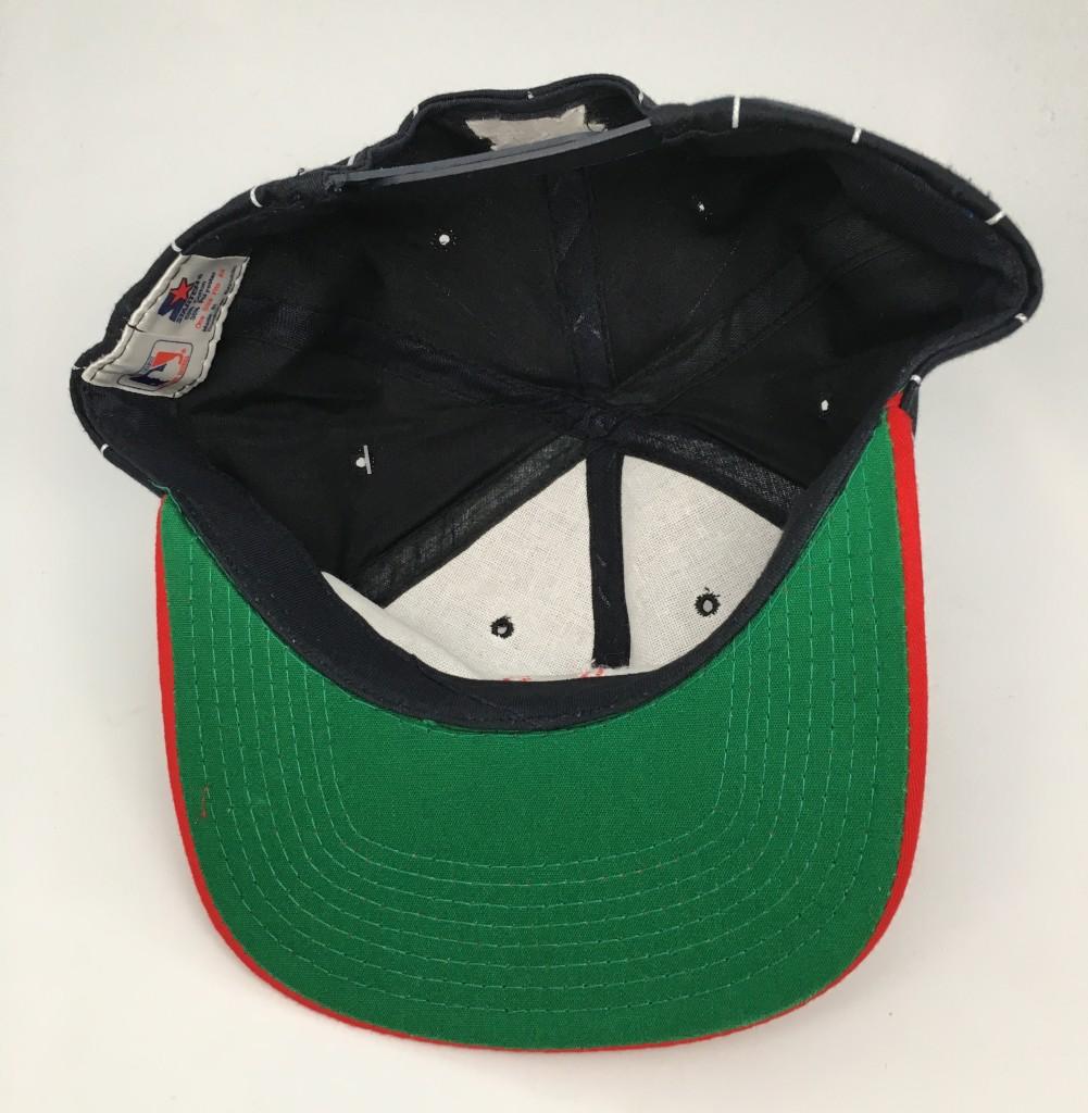90 s Boston Red Sox pinstripe starter snapback hat deadstock c92b40abc220