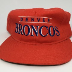 90's Denver Broncos Starter snapabck hat deadstock orange crush