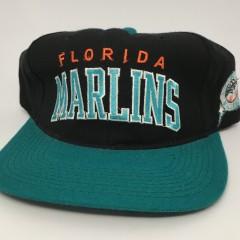 90's Florida marlins starter arch snapback MLB hat deadstock