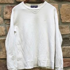 vintage 90's Polo Sport off white crew neck sweatshirt size small