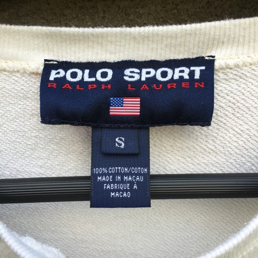 vintage 90's Polo Sport off white crew neck sweatshirt size small