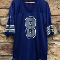 90's Dallas Cowboys Troy Aikman Pro Player NFL Jersey size XL blue
