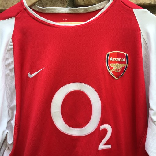 2002-03 Thierry Henry Arsenal Nike long sleeve soccer jersey kit futball size  XL dri Fit