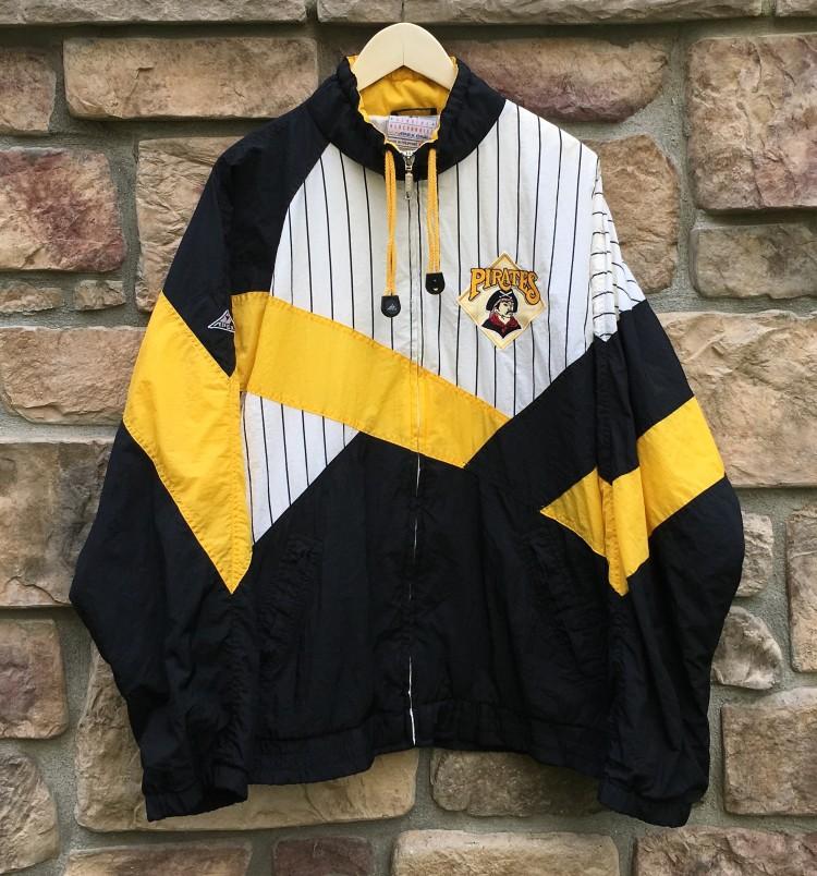 b7b29d505 90's Pittsburgh Pirates Apex One MLB Windbreaker Jacket Size XL ...