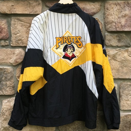 90's Pittsburgh Pirates pinstripe  apex one MLB jacket size XL