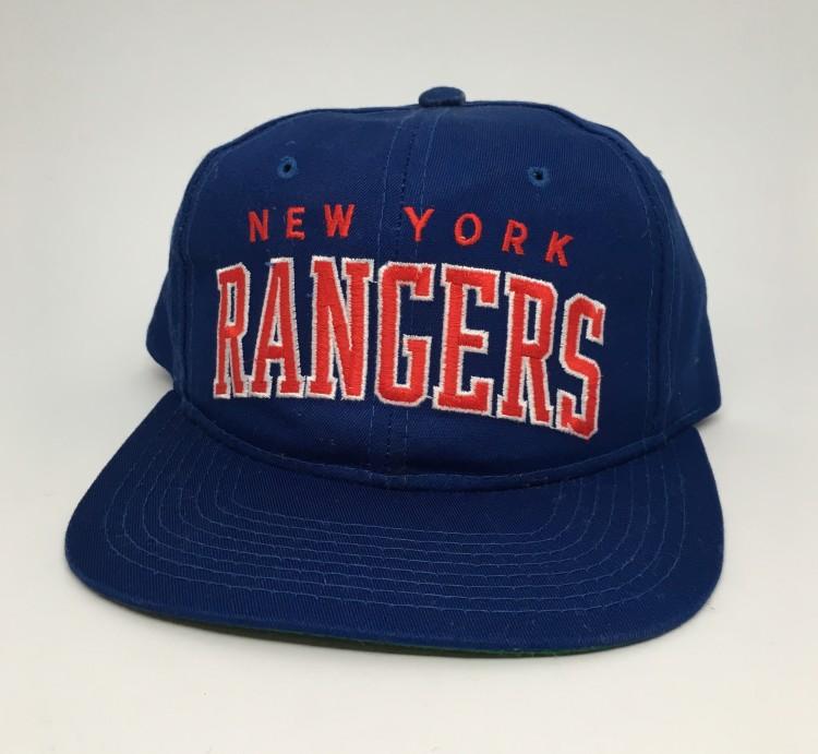 4db12b4fc6e449 90's New York Rangers Starter Arch Twill NHL Snapback Hat   Rare Vntg