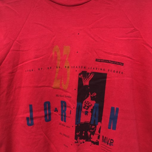 vintage early 90's Nike Michael Jordan stats t shirt youth large red