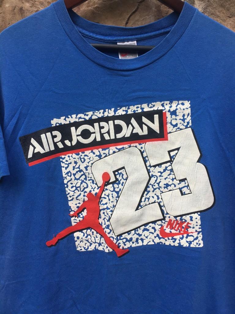 147cd2b05d58 early 90 s late 80 s nike michael jordan t shirt true blue 3 s size large