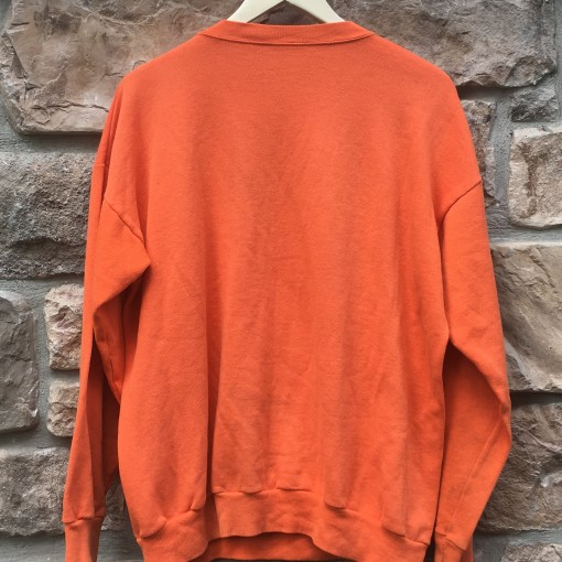 vintage 1990 Denver Broncos Bart simpson the simpsons NFL crewneck sweatshirt orange