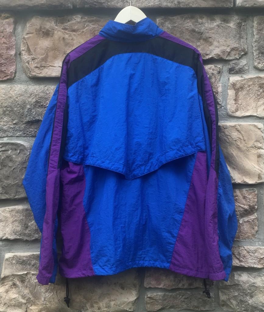 c5f2282b2d early 90 s vintage nike windbreaker jacket size XL blue purple black