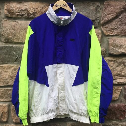 90's nike jacket purple neon size XL