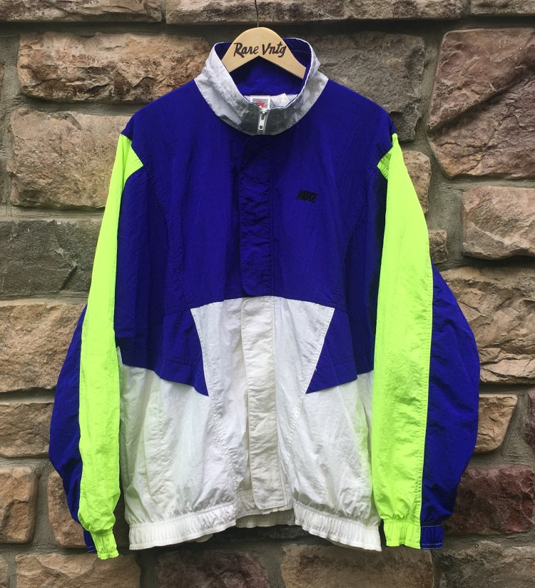 e8a480c93464 90 s Nike Track Jacket Purple Neon White Size XL