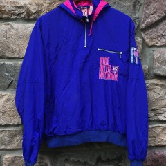early 90's vintage nike international jacket purple pink women's large