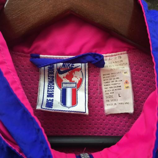 early 90's vintage nike international jacket purple pink women's large