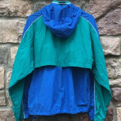 90's Nike aqua blue windbreaker jacket 3M vintage size medium