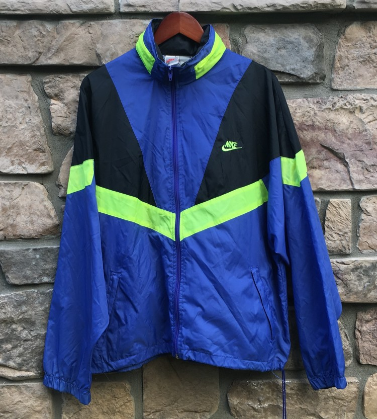 vintage early 90 s nike purple black neon windbreaker jacket size large af9abd1d1